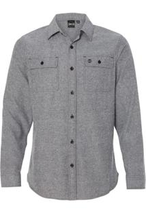 Camisa Blanks Co Flanela Grey Masculina - Masculino