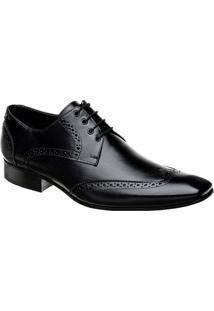 Sapato Oxford Masculino Em Couro Bigioni - Masculino-Preto