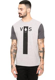 Camiseta Volcom Shaver Cinza/Preta