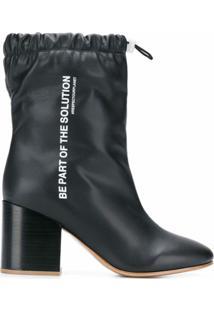 F_Wd Ankle Boot Com Amarração - Preto