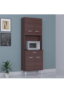 Cozinha Compacta 4 Portas 1 Gaveta Kit Cássia 6175 Capuccino - Poquema