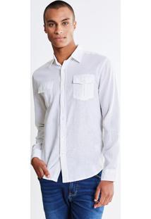 Camisa Com Bolsos Branca