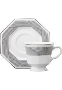 Conjunto 06 Xícaras De Café C/ Pires Schmidt - Dec. Bauhaus