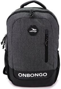 Mochila Para Notebook Onbongo - Unissex-Cinza