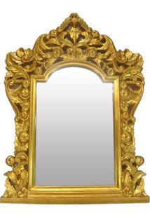 Espelho Capela Dourado 72X52-10954 -135033
