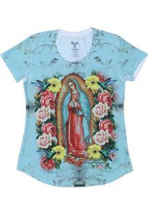 Camiseta Black Angus Manga Curta Nossa Senhora De Guadalupe Feminina - Feminino-Verde