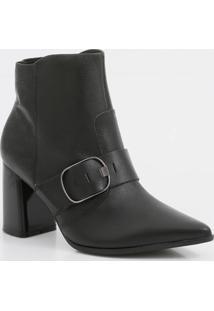 Bota Feminina Ankle Boot Recorte Textura Ramarim