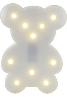 Luminária Luminoso Led Decorativo Adoraria Urso Uminoso Multicolorido Branco