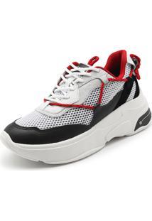 Tênis Couro Carmim Dad Sneaker Branco