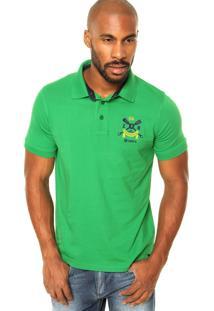 Camisa Polo Zebra Rafting Verde
