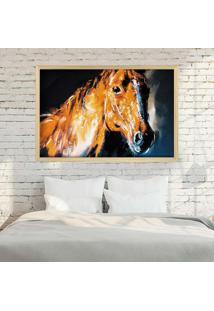 Quadro Love Decor Com Moldura Brown Horse Madeira Clara Médio