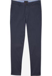 Calça Dudalina Jeans Stretch Bolso Faca Masculina (Marrom Medio, 42)