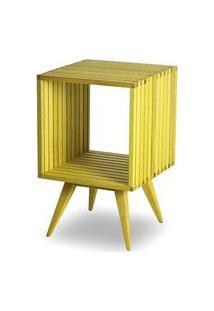 Mesa Lateral Dominoes Estrutura Amarela 45Cm - 61470 Amarelo