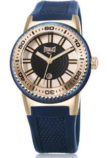 Relógio Pulso Everlast Analógico E456 Feminino - Feminino-Dourado+Marinho