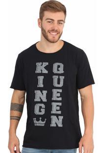 Camiseta Royal Brand King Queen Preta