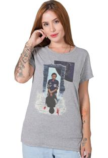 Camiseta Stranger Things Collage Cinza Stoned