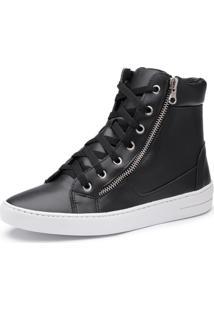 c0749aa25f0 ... Sapatenis Feminino Cano Alto Top Franca Shoes Preto