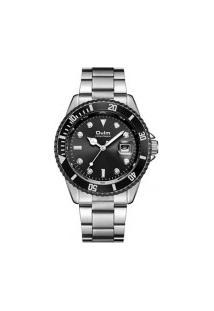 Relógio Masculino Oulm Ht6040 Analógico - Preto E Prata