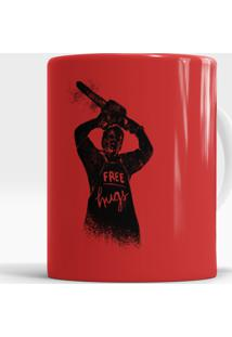 Caneca Leatherface Free Hugs