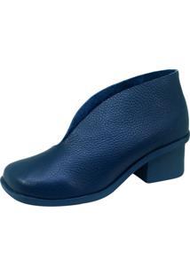 Bota S2 Shoes Hanna Salto Couro Marinho