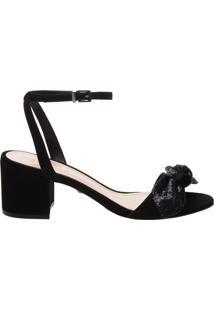 Sandália Block Heel Laço Black | Schutz