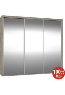 Guarda Roupa 3 Portas De Espelho 100% Mdf 1985E3 Demolição - Foscarini