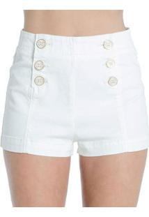 Shorts Sarja Off White Colcci - Feminino-Off White