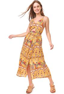 Vestido Redley Midi Honey Amarelo
