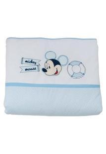 Edredom Do Mickey - Azul E Branco - Minasrey
