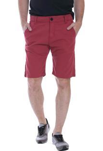 Bermuda Jeans Eventual Casual 20613 Telha - Vermelho - Feminino - Dafiti