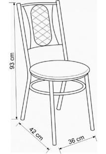 Conjunto Com Mesa E 8 Cadeiras Milano Móveis Brastubo Branco/Branco/Preto