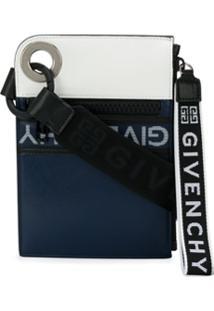 Givenchy Clutch Com Logo E Zíper - Azul