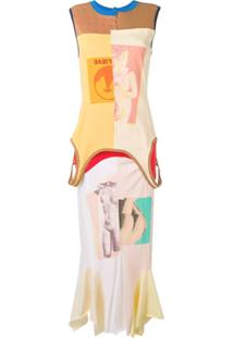 Marni Vestido Longo Com Estampa Gráfica - Neutro