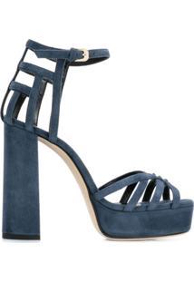 Lanvin Sandália Com Salto Bloco - Azul