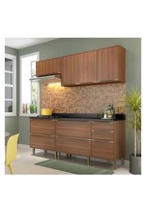 Cozinha Modulada Multimóveis 5459 Calábria 5 Peças Nogueira