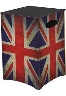 Banco Organizador Reino Unido- Azul & Vermelho- 45X3Cia Laser