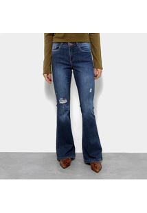 Calça Jeans Flare Razon Feminina - Feminino-Azul