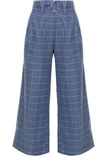 Calça Pantalona Xadrez Agatha