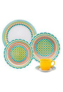 Aparelho Jantar E Chá 20 Peças Floreal Bilro 008383 Oxford