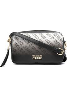Versace Jeans Couture Bolsa Transversal Com Estampa De Logo Degradê - Preto