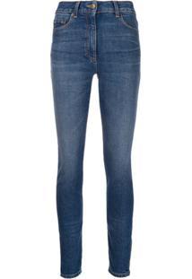 Moschino Calça Jeans Skinny Com Efeito Desbotado - Azul