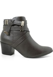 Bota Ramarim 17-64102 Ankle Boot Feminina Cacau