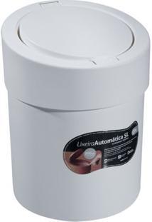 Lixeira Automã¡Tica- Branca- 5L- Brinoxbrinox