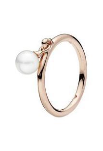 Anel Elegante Esfera Rosê- Rosê Gold- Tamanho 54 = 1Pandora