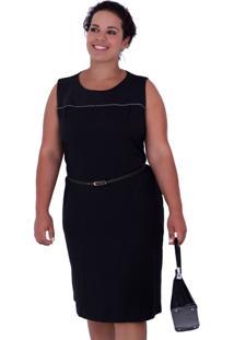 Vestido Helen Black Plus Size Vickttoria Vick Plus Size Preto