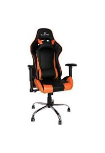 Cadeira Gamer Bluecase Titanium Reclinável, Até 120 Kg, Reclinável, Laranja/Preto - Bch-21Obk