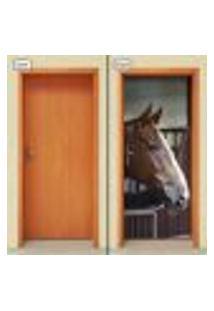 Adesivo Decorativo De Porta - Cavalo - 1165Cnpt