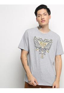 Camiseta T-Shirt Cavalera Águia Masculino - Masculino-Mescla