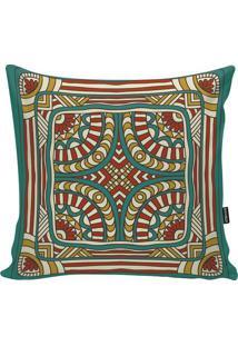 Capa Para Almofada Egypt- Vermelha & Verde- 45X45Cm