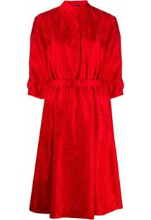 A.P.C. Vestido Com Estampa De Leopardo - Vermelho